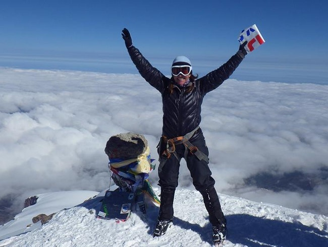 Summit of Mount Elbrus, Russia, highest point in Europe!
