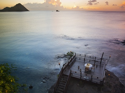 The Cliff at Cap Gros Islet  Saint Lucia