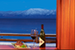 Drinks and food with an epic view Tahoe City California United States