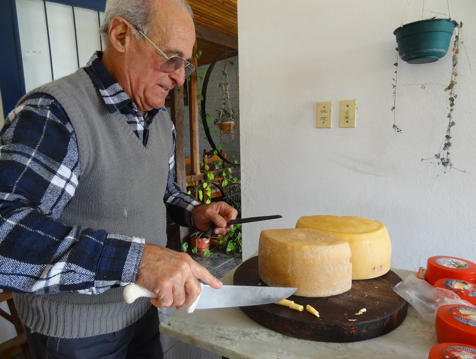 Homemade cheese & honey for the road Montevideo  Uruguay