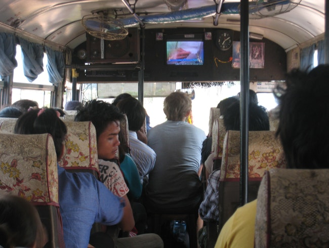 Typical bus in Laos