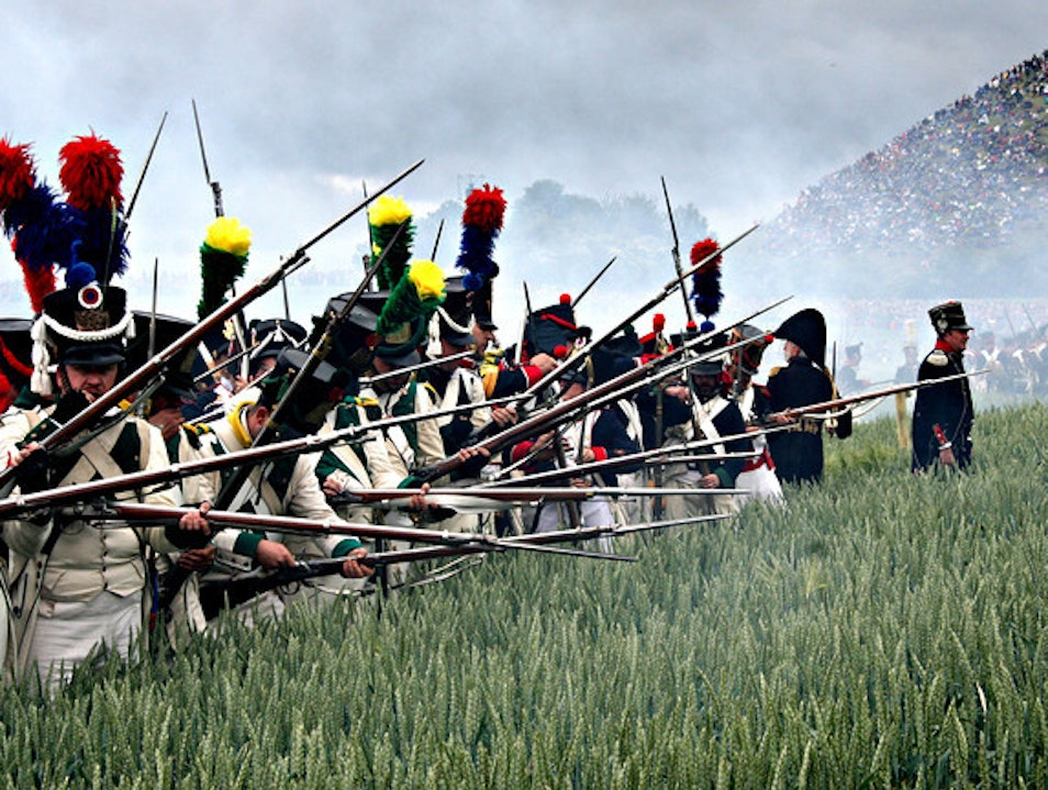 Reloading at the Battle of Waterloo Braine L'alleud  Belgium