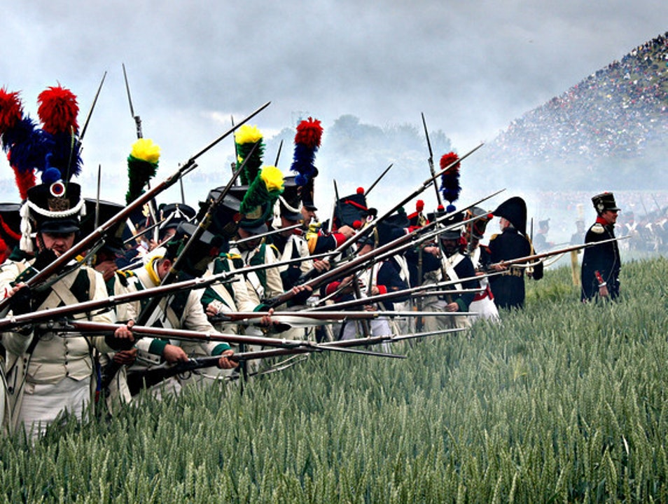 Reloading at the Battle of Waterloo