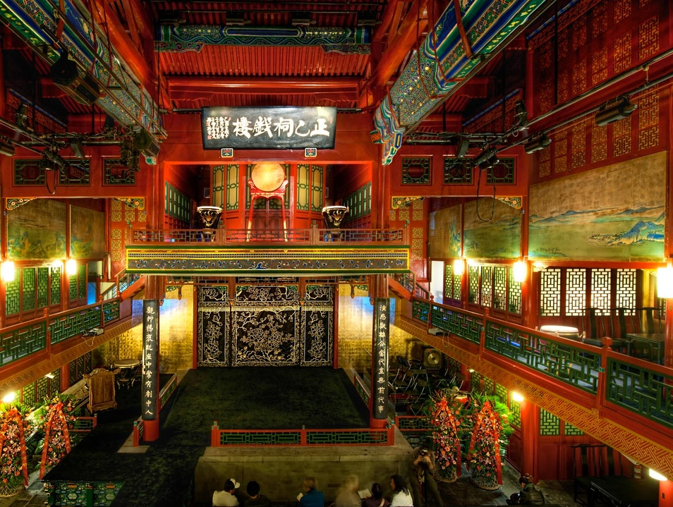 Peking Opera on a Traditional Stage