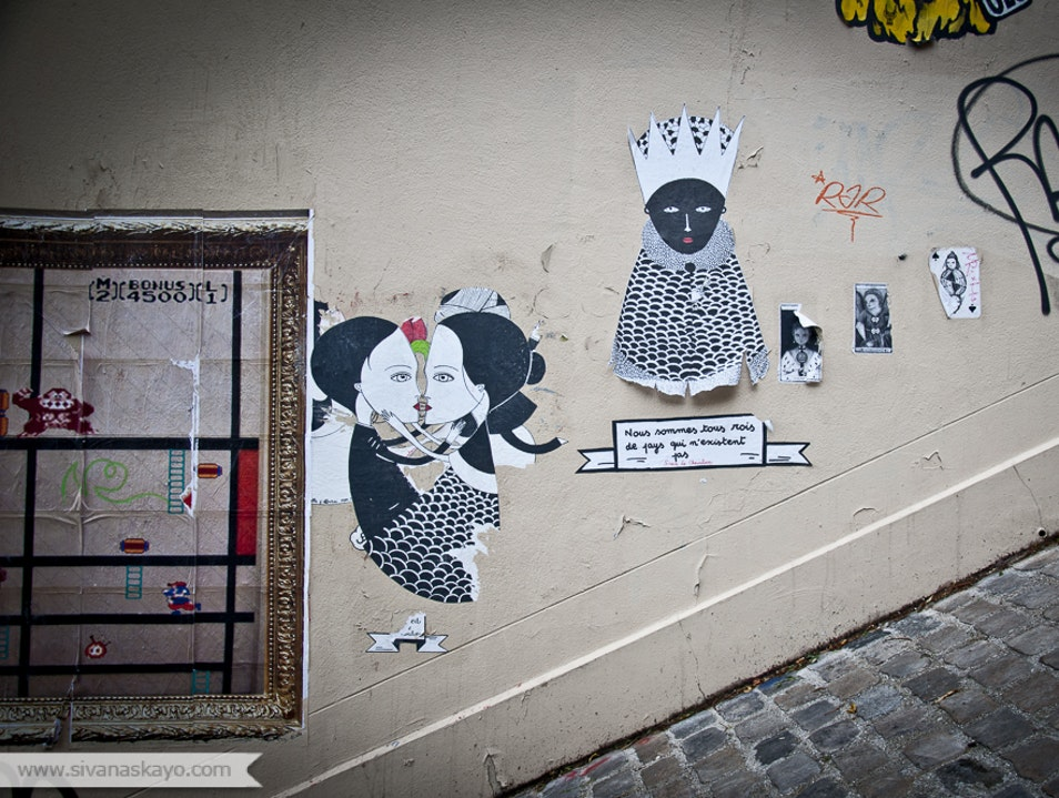 Following Fred Le Chevalier's Street Art in Paris Paris  France