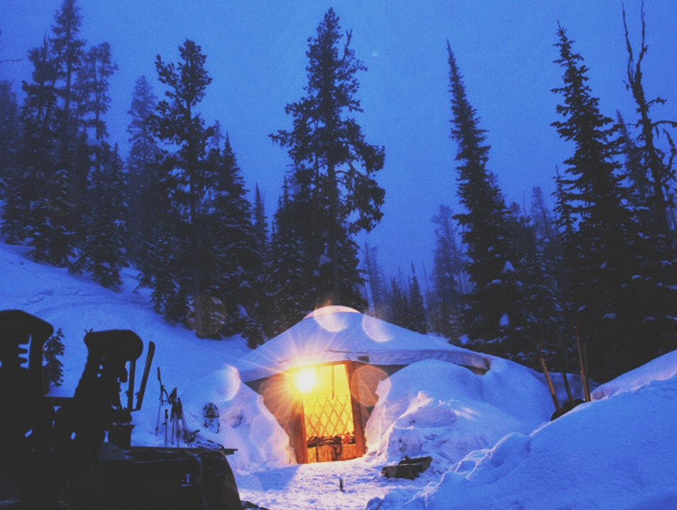Camping in a Backcountry Yurt Lolo National Forest Montana United States