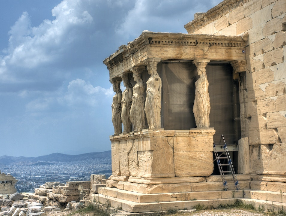The Porch of the Caryatids Athens  Greece