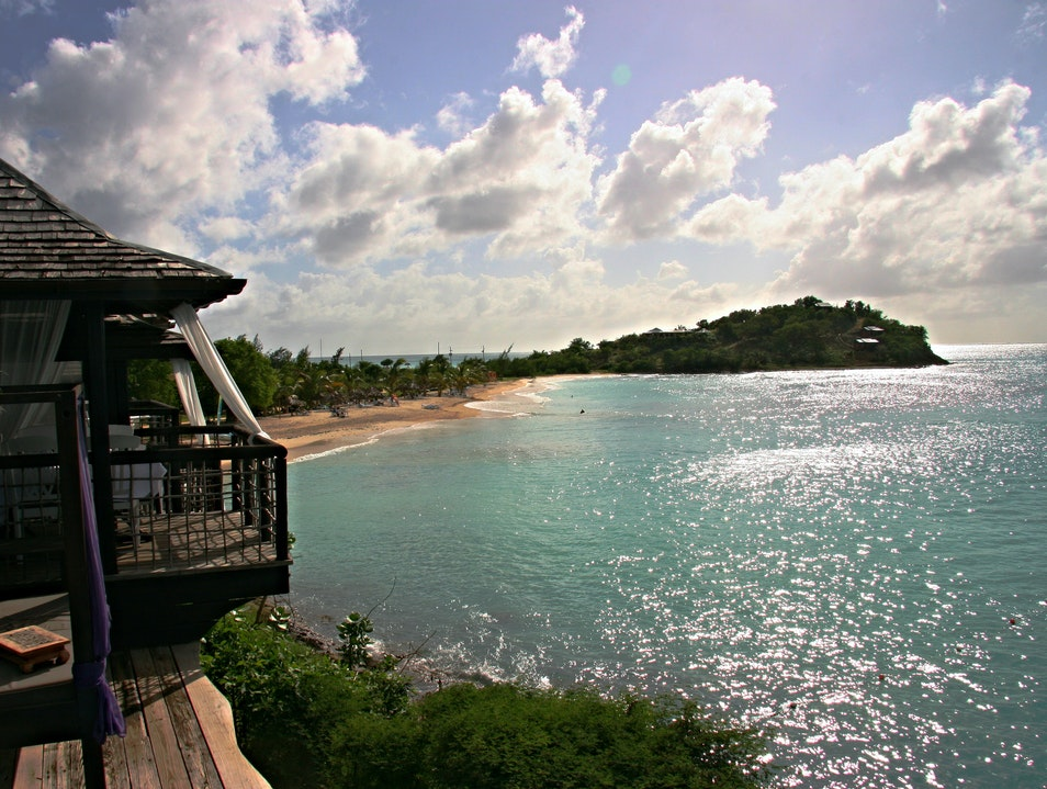 Eat Tapas Overlooking the Water at Sheer Rocks  Saint Mary  Antigua and Barbuda