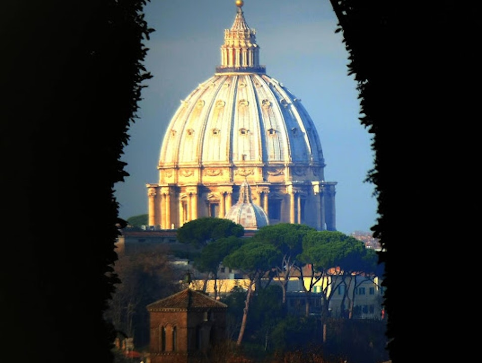 View of St. Peter's through a keyhole