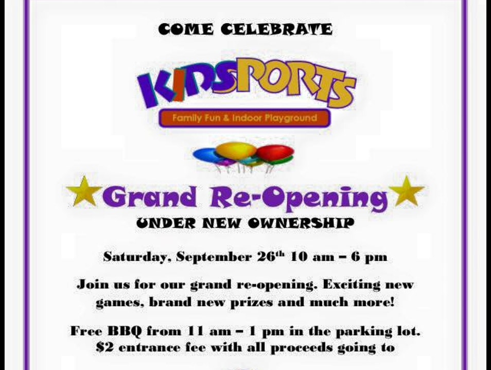 New Ownership & Grand Re-Opening