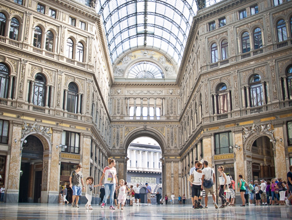 Galleria Umberto and its great Architecture  Naples  Italy