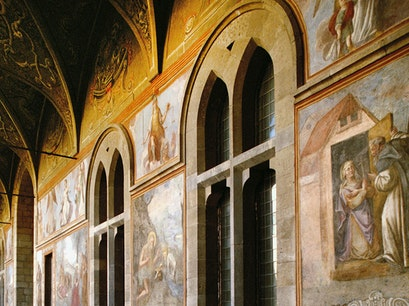 Church of Santa Chiara and cloister Naples  Italy