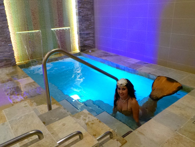 Live Mermaids at The Ritz-Carlton Spa