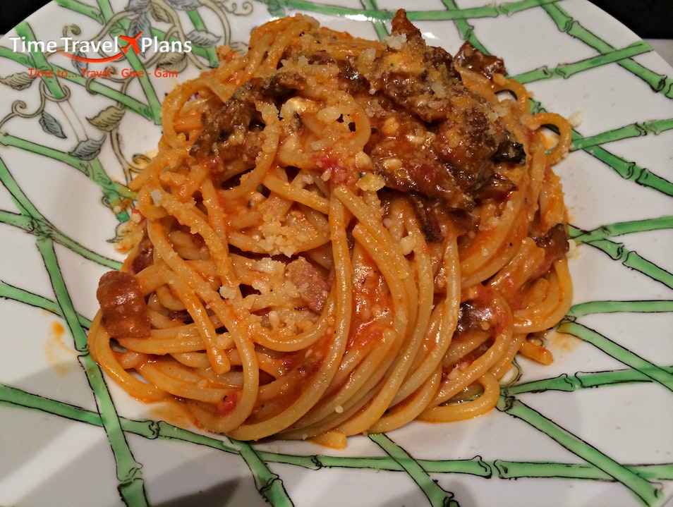 Bucatini all'Amatriciana Made with Love in Rome