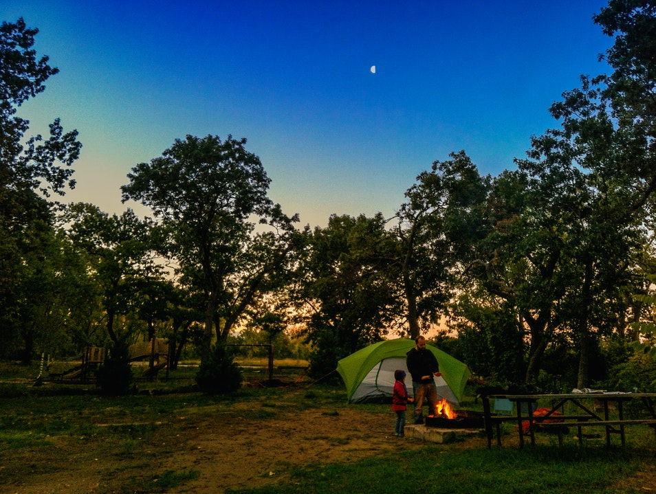 Camping at Illinois Beach State Park
