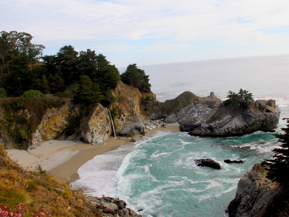 Must-See Waterfall into the Pacific Ocean Big Sur California United States