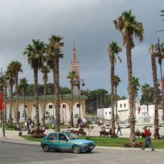 Square in the city of Tangier