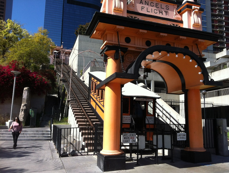 Historic Angel's Flight in Downtown L.A.  Los Angeles California United States