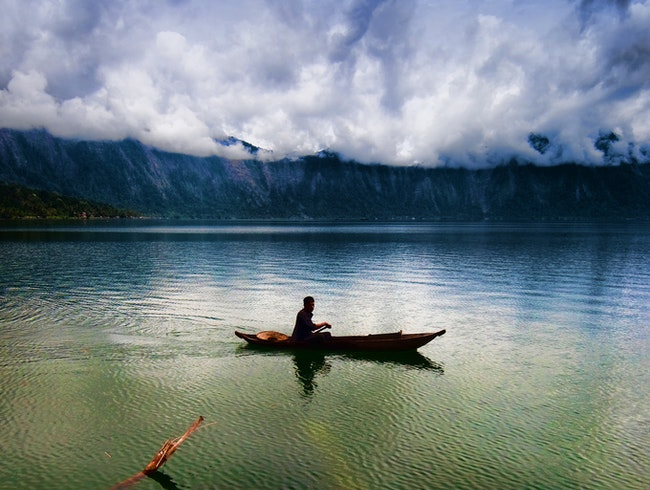 Western Shore, Lake Maninjau, Sumatra, Indonesia.