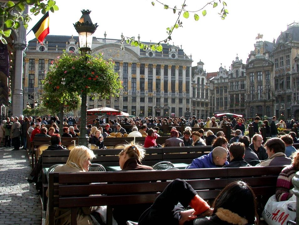 autumn afternoon  Brussels  Belgium