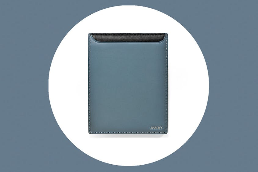 The Passport Holder includes RFID protection and is available in Coast (shown here) and Black.