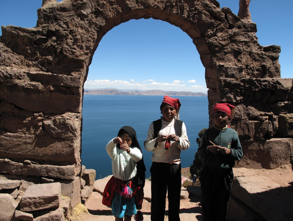 Charming Children of Taquile Puno  Peru
