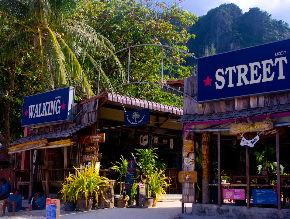 Railay Walking Street Mueang Krabi  Thailand