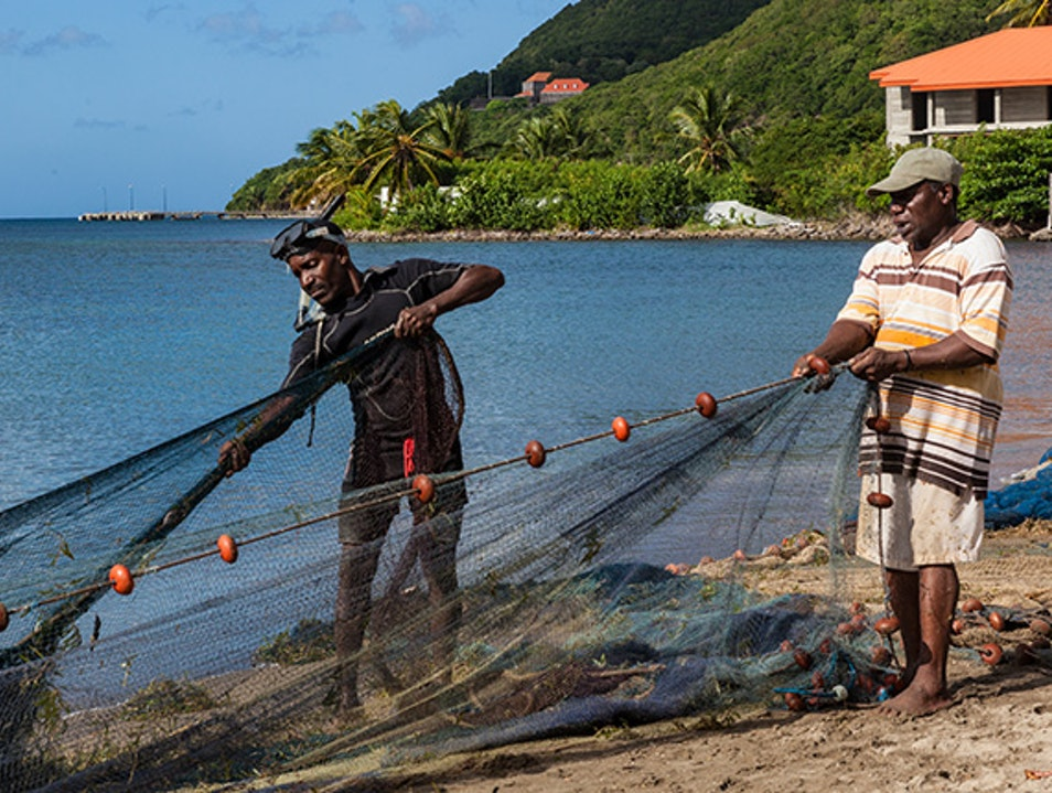 Shore fishing Portsmouth  Dominica