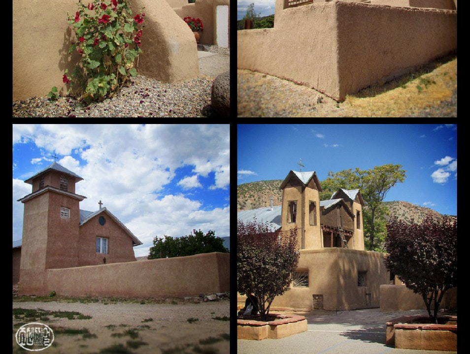 "Adobe churches and mountain views: ""The High Road"" to Taos Chamisal New Mexico United States"