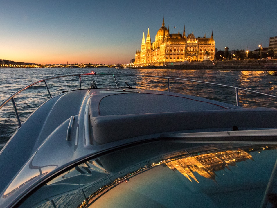 A Boat Ride on the Danube at Sunset Budapest  Hungary