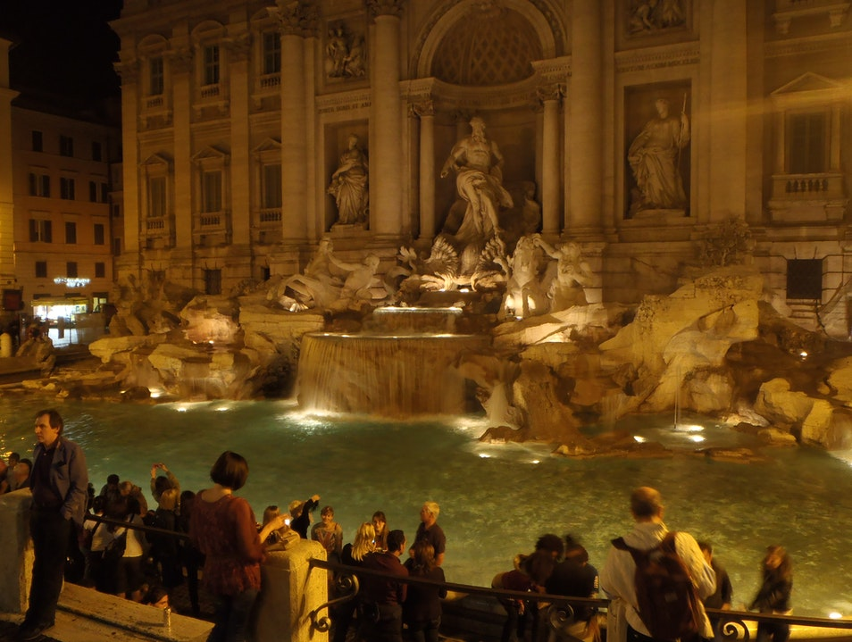 The Trevi at Night ... A Must-do Rome  Italy