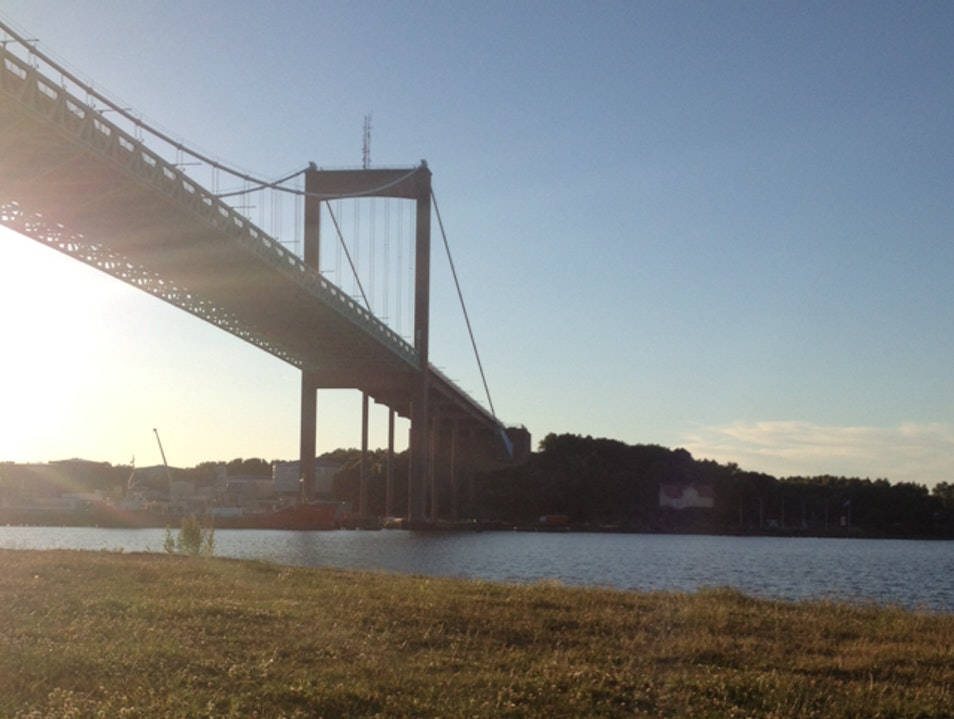Picnic under this magnificent suspension bridge Gothenburg  Sweden