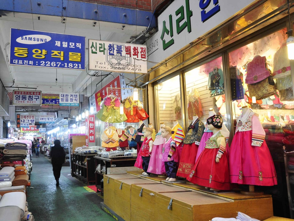 Hanbok Shopping Seoul  South Korea