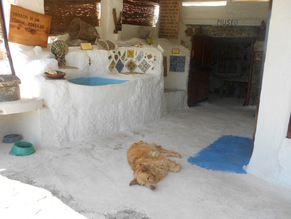 An eclectic museum at the beach Ponza  Italy