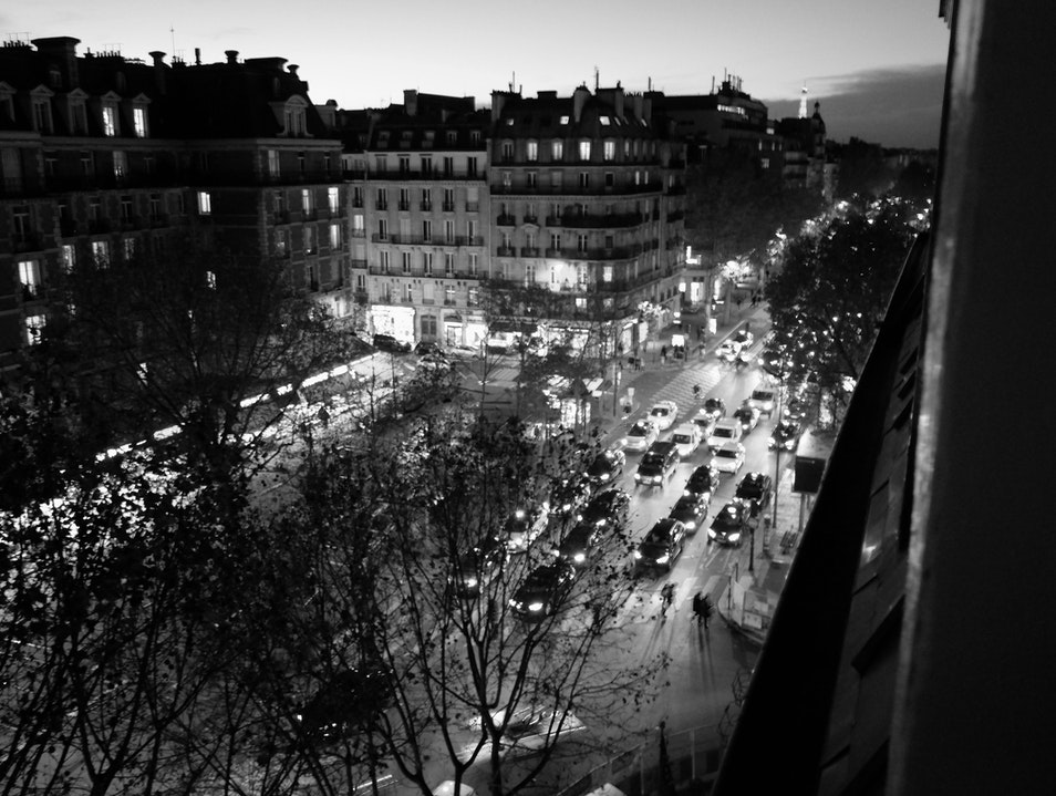 Place Maubert at night Paris  France