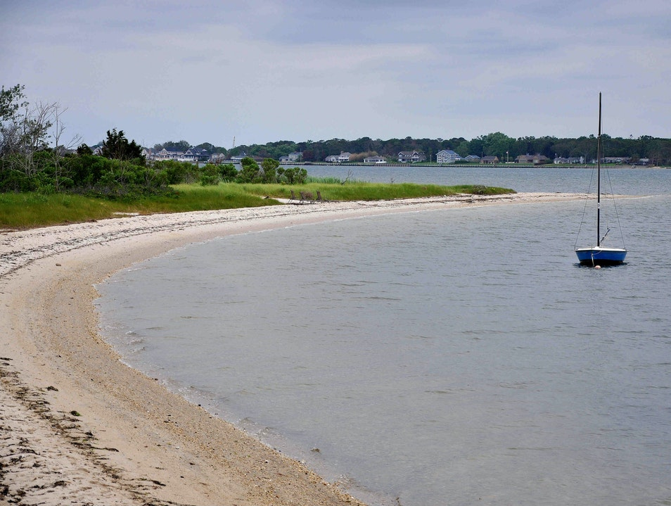 Where to find a quiet beach in the Hamptons Hampton Bays New York United States