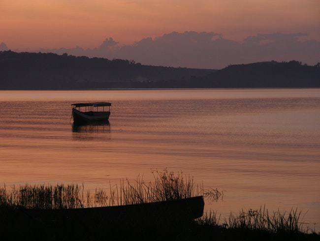Sunset on Lake Victoria's Ssesse Islands