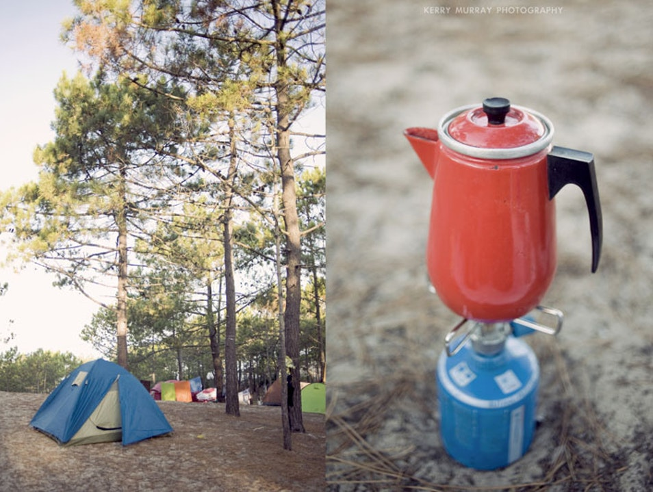 Beach camping on Portugal´s south-west coast