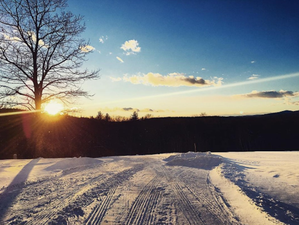 Snowy Sunset  Henniker New Hampshire United States