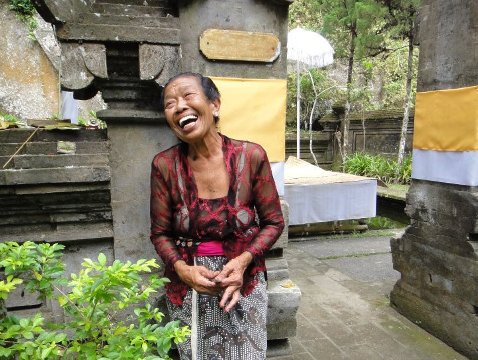 Local woman at temple Mengwi  Indonesia