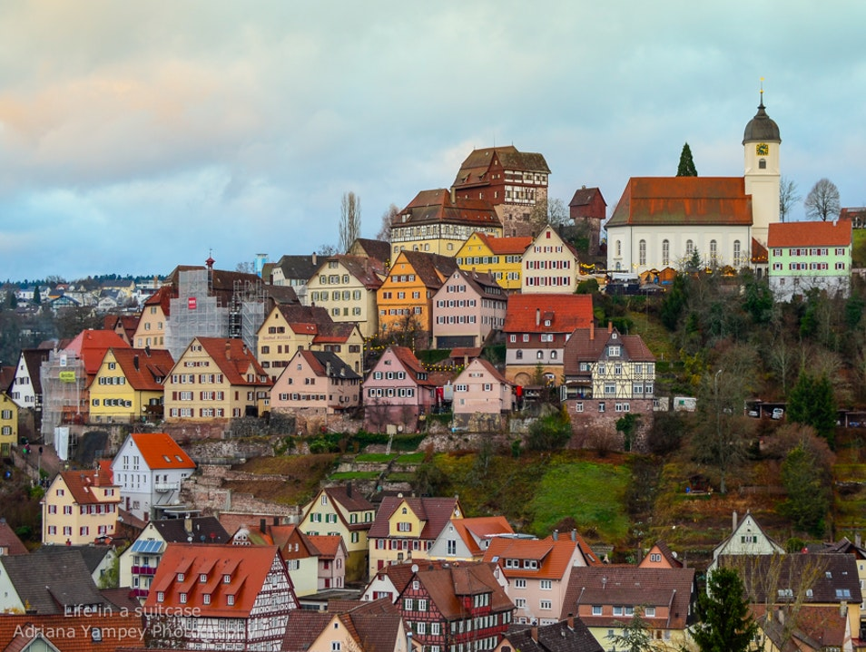 The town on the hill Altensteig  Germany