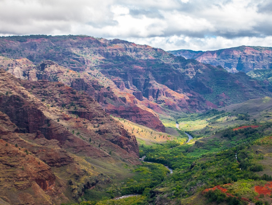 Colorful Hawaiian Canyon Waimea Hawaii United States