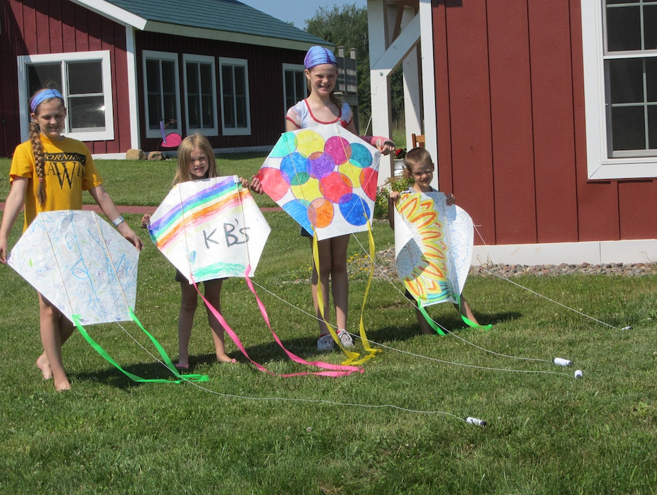 Kite Making on Madeline Island Bayfield Wisconsin United States