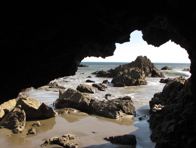 Beach Caves and Campfires