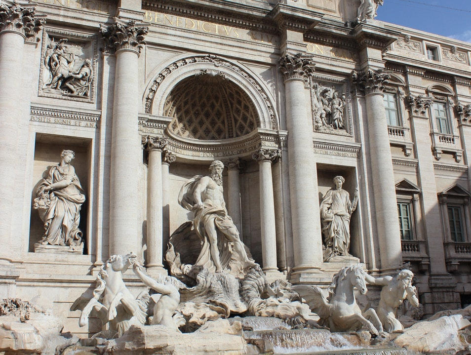 Trevi Fountain in Rome Rome  Italy