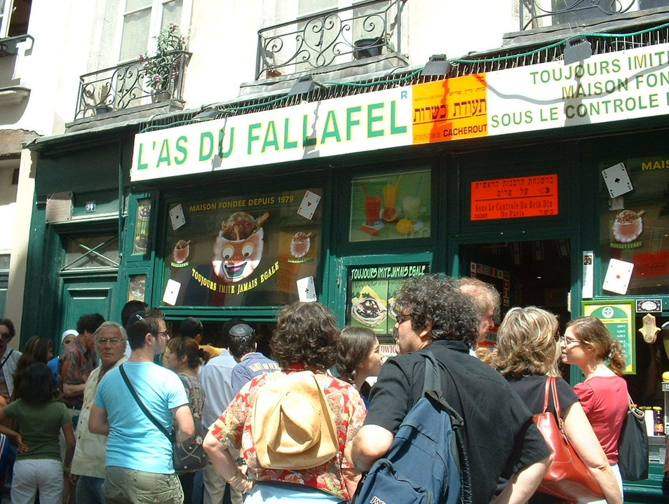 Lenny Kravitz and the Parisian Falafel Shop Paris  France