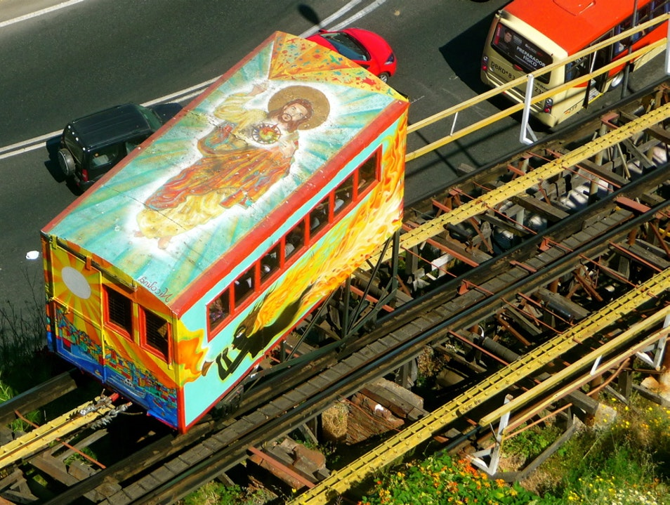 The Ascensor Artilleria is more than 100 years old Valparaiso  Chile