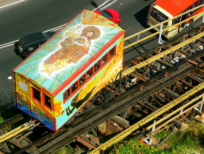 The Ascensor Artilleria is more than 100 years old