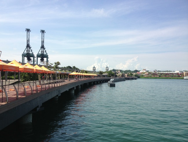 Boardwalk to Sentosa