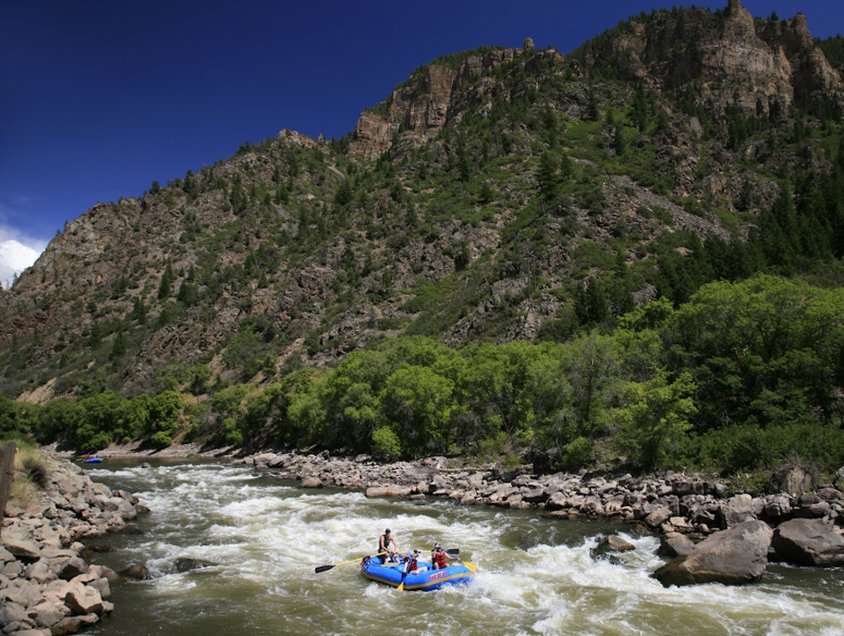 Whitewater Rafting in the Mountains Aspen Colorado United States
